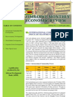 Zimbabwe - Monthly Economic Review - January 2013