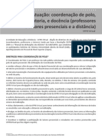 Diretrizes de Atuacao Coordenacao de Polo de Curso de Tutoria e Docencia Professores e