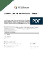 Proposition au Fonds mondial de lutte contre le SIDA, la Tuberculose et le Paludisme--Tchad, Round 7 Soumission (Juillet 2007)