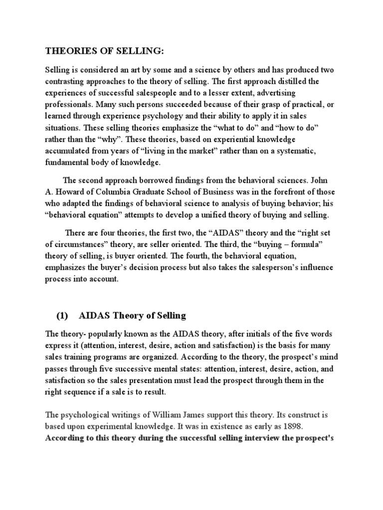 theory of buyer behavior