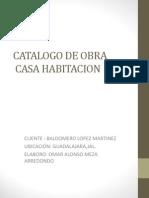 Catalogo de Obra