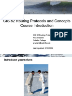 Course Introfuction Cis 82