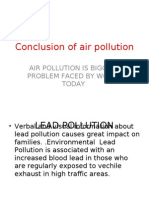 summary on the causes and the effects of air pollution conclusion of air pollution