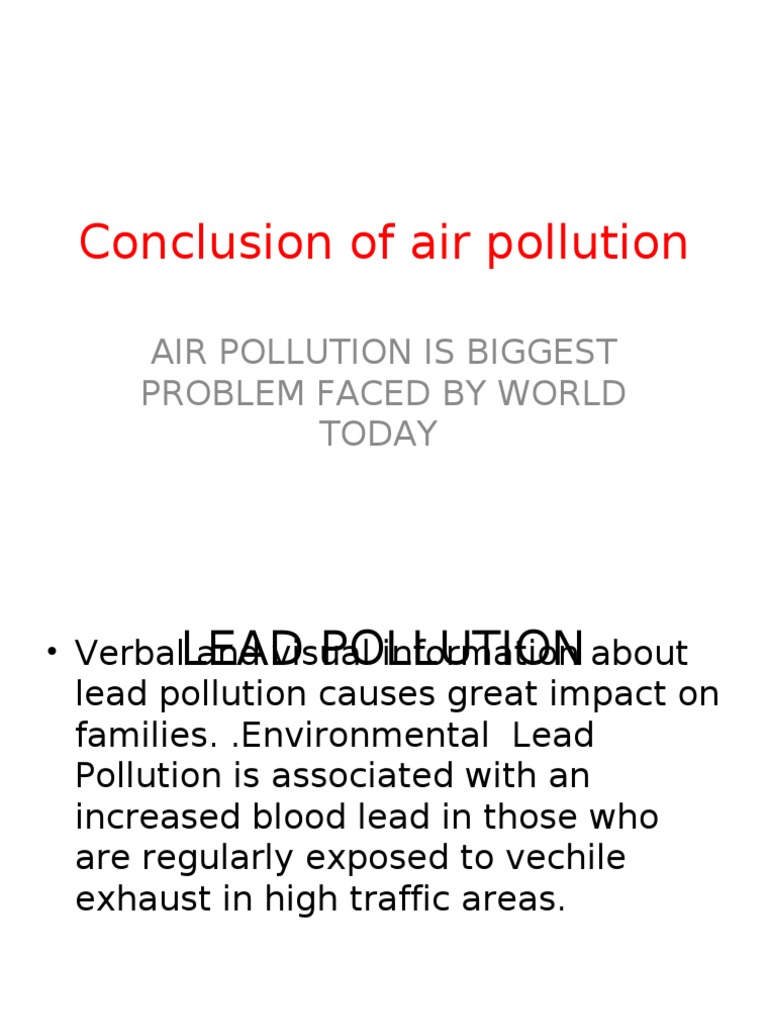 conclusion of air pollution
