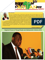 """AfriYANesse"" (African Youth and Adolescents Network) Letter (2012)"