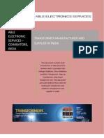 Step Up Transformer Manufacturer - Step Down Transformer Manufacturer and supplier in Coimbatore, India