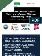 Safeguarding Valencian Acequias