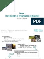 Tema 1 Introduccion Al Tratamiento de Residuos