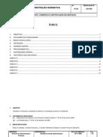 IN 015-06 Compras e Contratação de Serviços - COM ÍNDICE