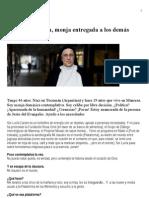 Sor Lucía Caram es un torbellino de energía con un objetivo