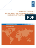 COMPARATIVE EXPERIENCE, AID INFORMATION MANAGEMENT SYSTEMS (AIMS) IN POST-CONFLICT AND FRAGILE SITUATIONS -- UNDP (October 2010)