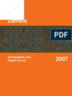 Zambia Demographic and Health Survey 2006 - 2007