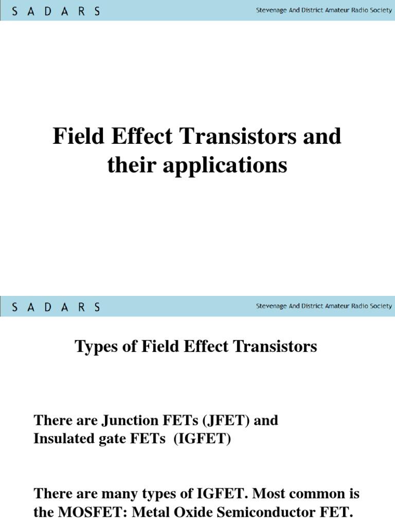 Igfet Field Effect Transistor Mosfet Tutorial Circuits