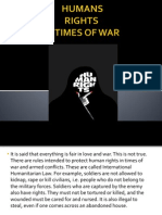 Human rights in time of war