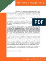 Duplica Carta a Diego Vela