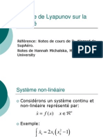 Theorie de Lyapunov Sur La Stabilite E2010