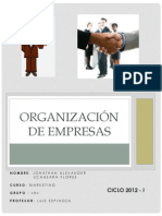 ORGANIZACIÓN DE EMPRESAS (MARKETING)