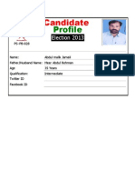 Baluchistan Provisional Assembly - Election 2013 Candidates Profile