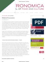 Dialectical Consumerism - Gastronomica