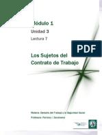 Lectura 7 -Los sujetos del Contrato de Trabajo.pdf