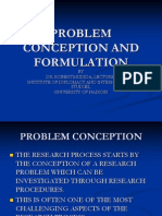 Problem Conception and Formulation