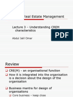 Lecture 3 - The CREM Organisation