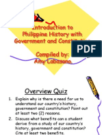 Introduction to Philippine History With Government and Philippine Constitution