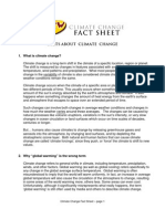Climate Change Fact Sheet