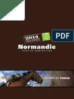 Jeux Equestres Mondiaux - candidature de la Normandie 2014 - dossier de presse