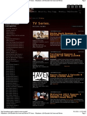 Minishares org Encoder's for Series and Movies List pdf | Television