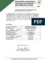 Edital Nº 0172013 prorrogação bolsa de extensão