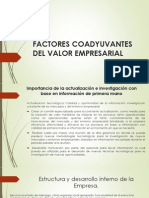 Factores Coadyuvantes Del Valor Empresarial