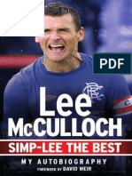 Simp-Lee the Best by Lee McCulloch Autobiography Extract