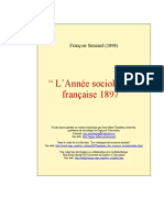 Annee Sociologique 1897