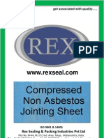 REX - Non Asbestos Jointing Sheet (Compressed with Aramid Fiber and NBR )