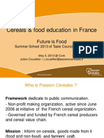 cereals and food education in france - julien couaillier