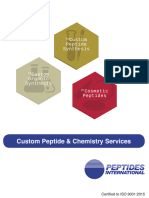 Peptides International Custom Peptide Synthesis and Chemistry Services Brochure