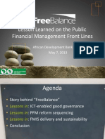 2013-05-07 AfDB Lessons Learned on the PFM Front Lines