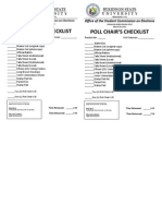 Poll Chair's Checklist!