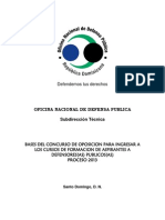 Bases Concurso Defensores Publicos 2013