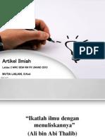 Artikel Ilmiah Latdas 2 Mrc 2013