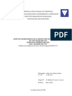 Aspectos geohistóricos de la producción de caña de azúcar en los Valles del Tuy. Caso, Ocumare del Tuy