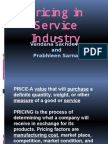 Pricing in Service Industry