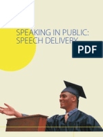 Speaking in Public Speech Delivery