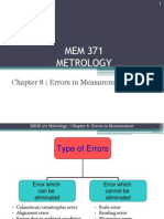 Chapter 8 Mem371 Metrology