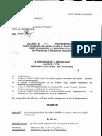 Décret n° 418/PR/PM/MPDC/2005, République du Tchad (27 juin 2005)