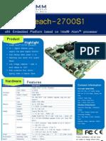 Golden Beach 2700S1 Product Brochure v1 0