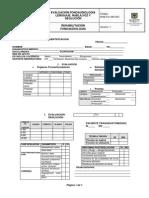 RHB-FO-490-007 Evaluacion Fonoaudiologia Lenguaje Habla y Deglucion