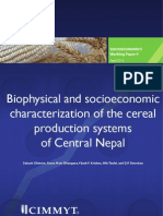 Biophysical and socio-economic characterization of cereal production systems of Central Nepal