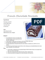 French Chocolate Roulade